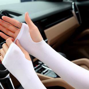 夏季冰防晒男袖套女假袖子护臂手臂套袖冰丝防紫外线手套骑行运动图片