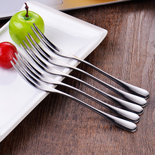 Dad's Stainless Steel Fruit Fork Set with 6 Korean Creative Fruit Labels, Fruit Fork and Coffee Spoon