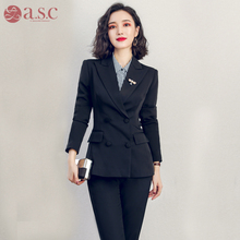 Suit female college student interview dress 2019 new spring and autumn fashion work clothes professional dress temperament suit