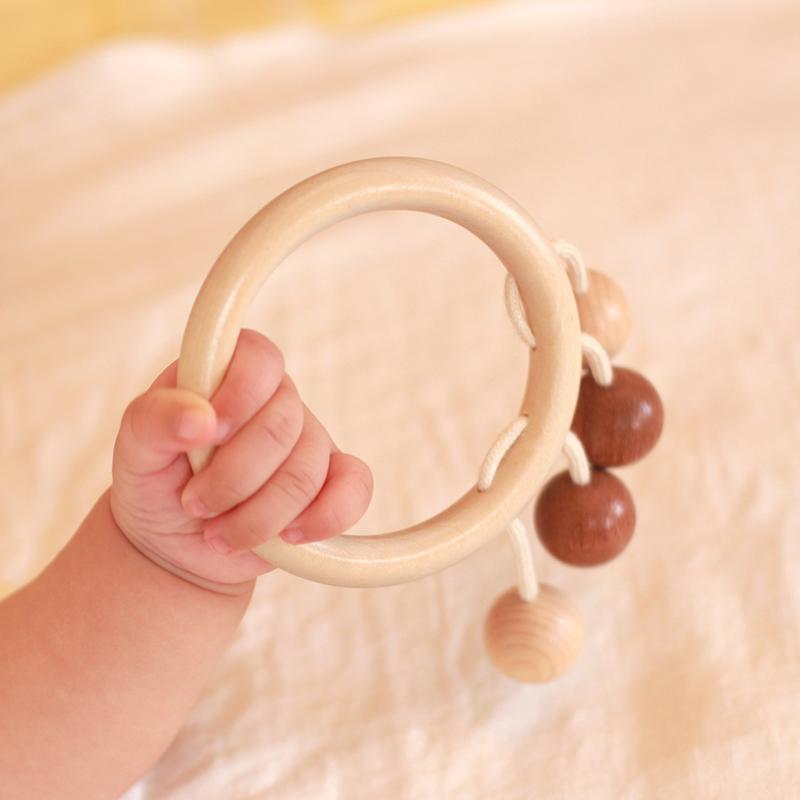 woodpapa木艺爸爸音悦环摇铃 婴儿玩具0-1岁3-6-12个月新生儿木质12月08日最新优惠