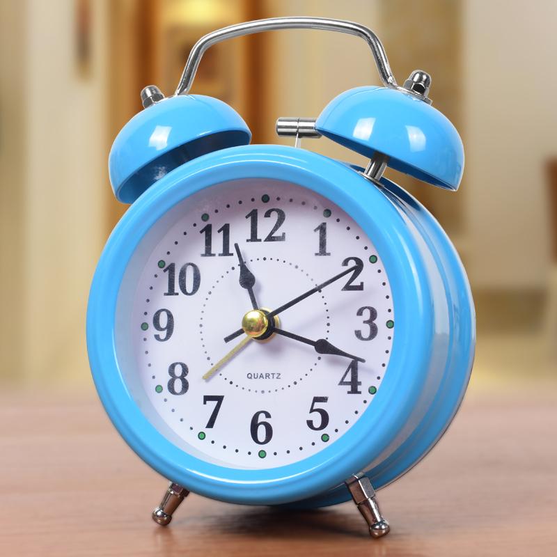 简约创意闹钟学生用可爱静音夜光床头卧室儿童迷你个性小闹钟钟表(用39.2元券)