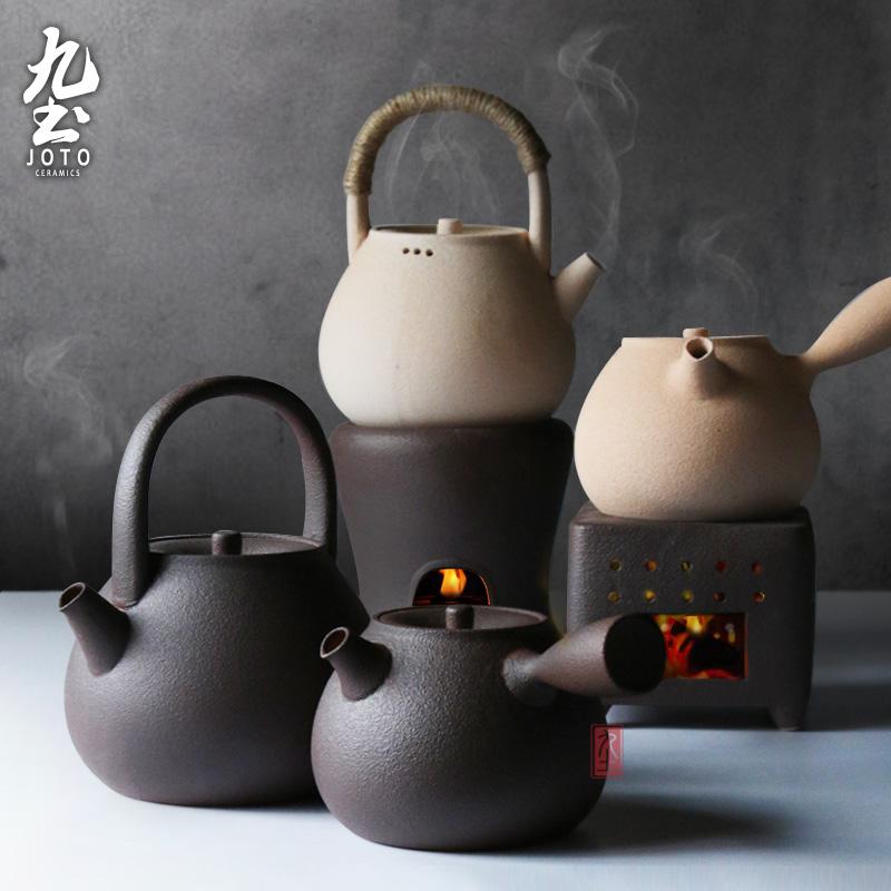 九土日式陶泥茶壶,不仅耐热还养身