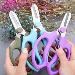 不锈钢园艺花艺剪刀插花剪宽头家用剪鲜花剪花枝树枝修花修枝工具