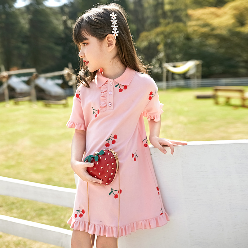 Girl's dress summer dress 2020 new children's Polo skirt summer girl princess skirt foreign dress