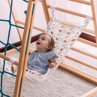 俄罗斯原创插画儿童吊床睡觉摇篮 AVDAR 进口木质攀爬架配件