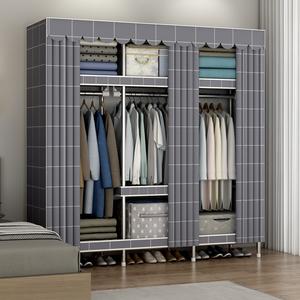 简易结实耐用家用加厚全加粗布衣柜