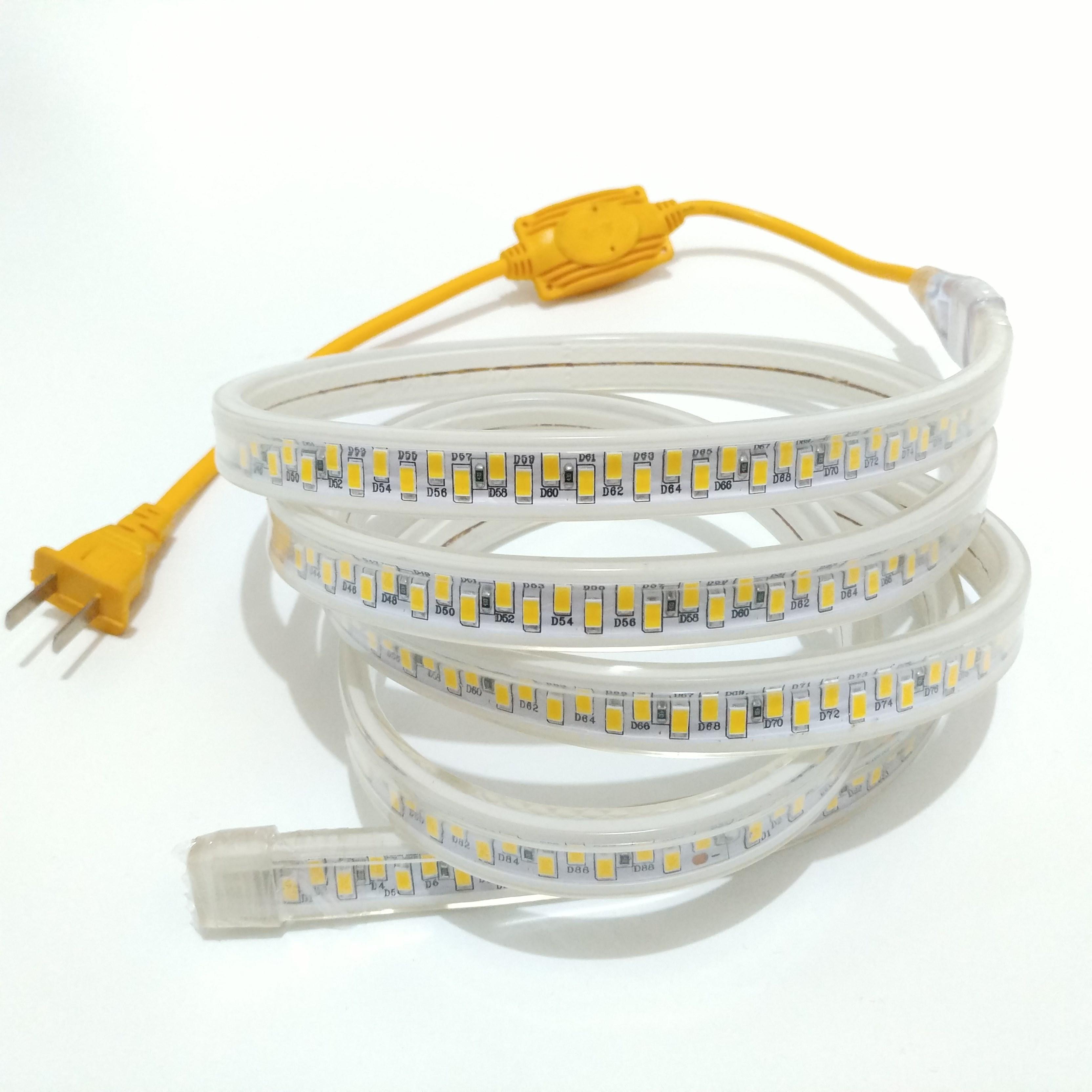 进口LED双排灯带超亮5730灯珠180珠120 防水室内客厅吊顶户外灯带(用1元券)