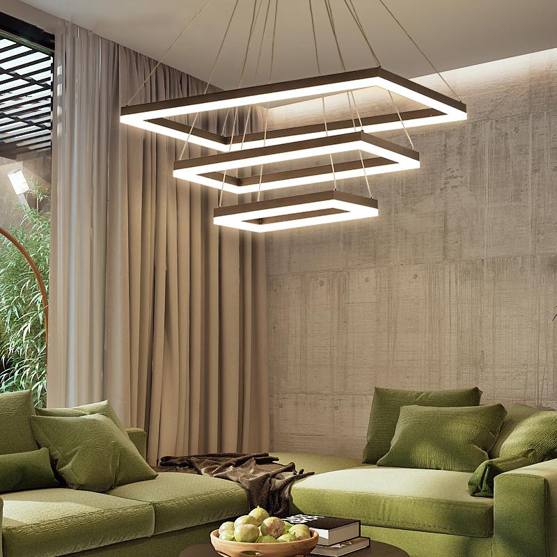 现代客厅吊灯 北欧艺术创意网红长方形客厅灯 个性简约led餐厅灯