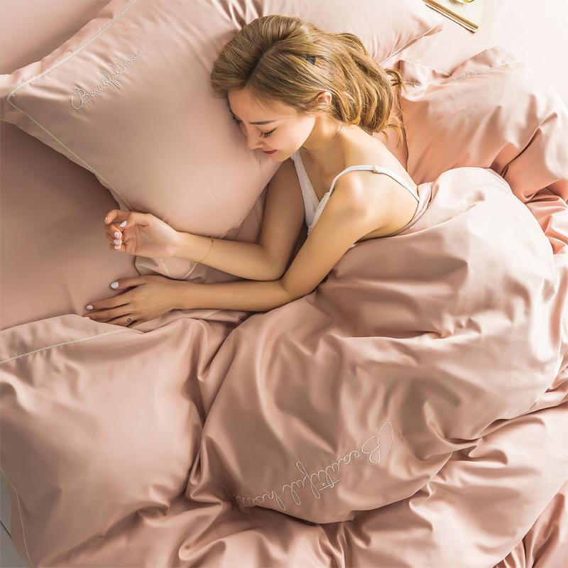 (用3元券)双面天丝四件套夏季冰丝滑欧式凉爽网红款床单被套床上用品三件套