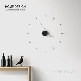 现代简约钟表挂墙家用时钟北欧客厅艺术挂钟创意剪影装 饰静音钟表