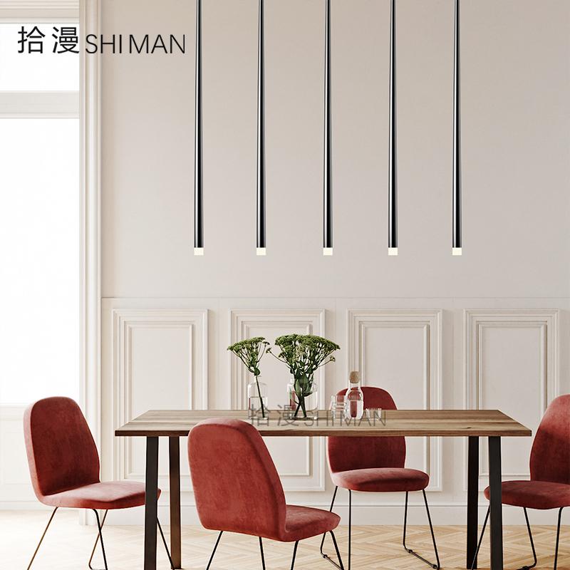 北欧餐厅卧室led吊灯简约长筒楼梯前台酒吧台轻奢创意个性设计师