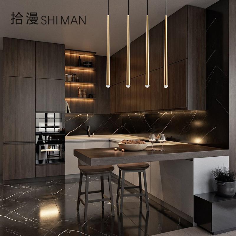 北欧现代简约长筒卧室床头吊灯轻奢楼梯餐厅吧台前台创意个性LED