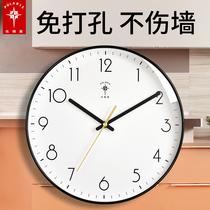 北极星酪钟客厅北欧钟表挂墙家用时钟现代简约大气挂表时尚石英钟