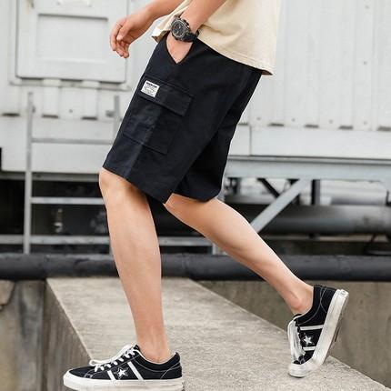 工装五分裤子男夏季纯棉沙滩运动休闲ins夏天韩版潮流宽松短裤男