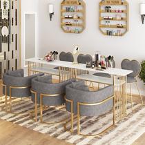 简约单人双人三人双层美甲桌美甲台修甲台化妆桌椅子凳子