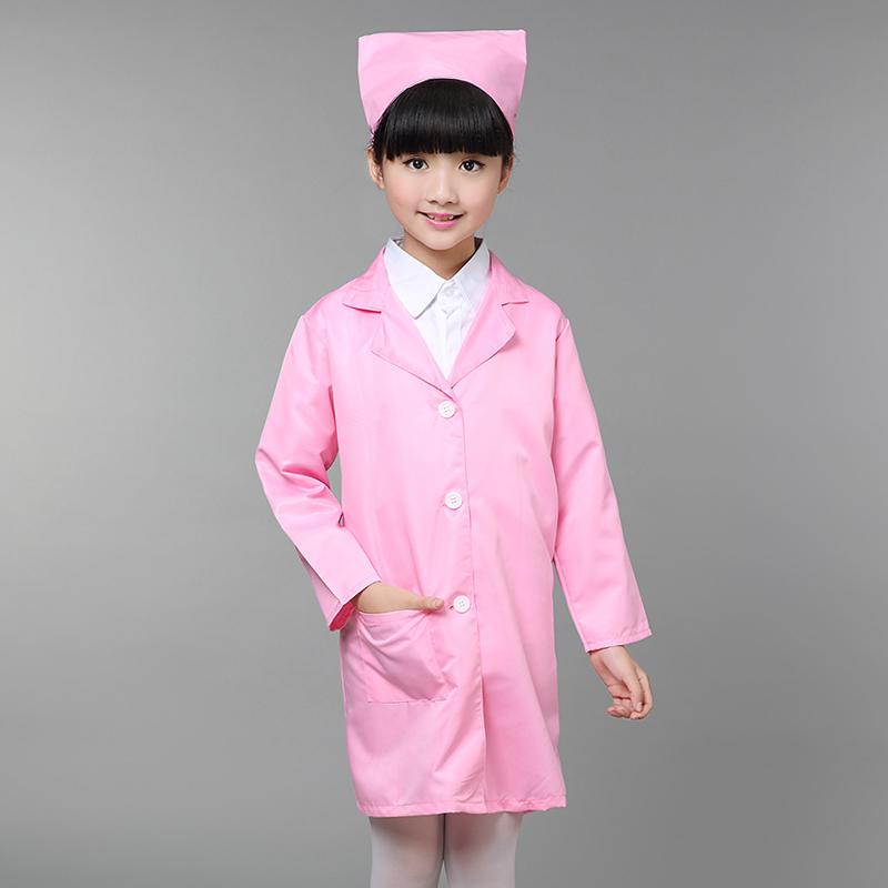 兒童小護士服醫生扮演職業體驗裝演出服幼兒園過家家白大褂表演服