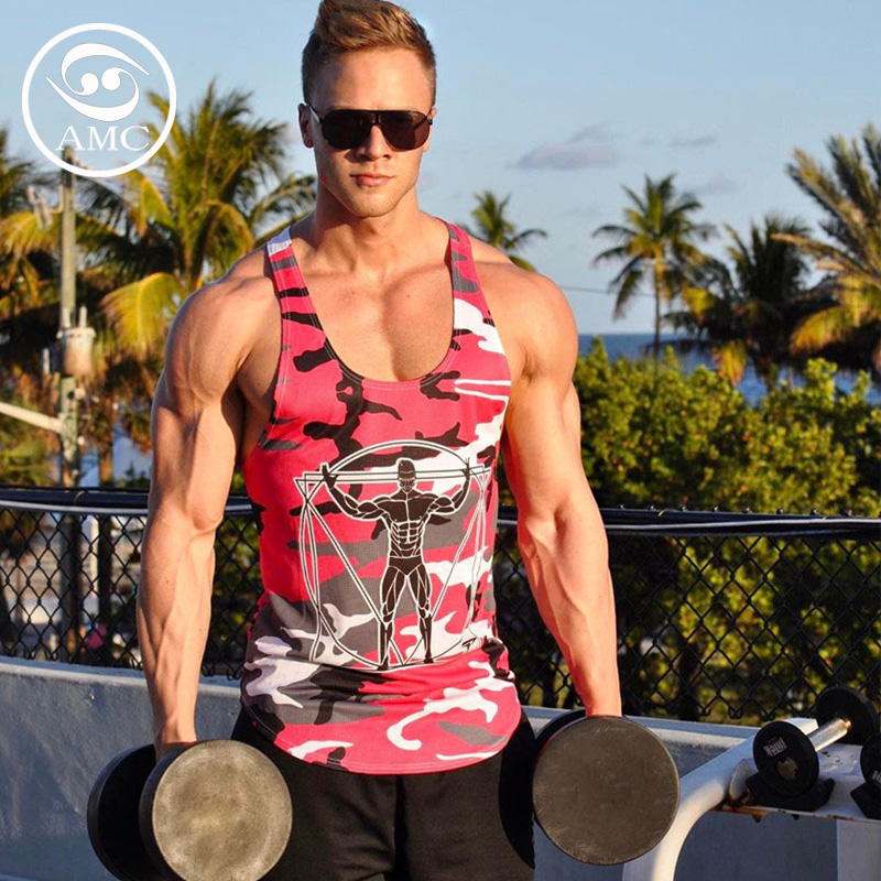 2019 mens new summer sports outdoor camouflage vest fitness running training camouflage long sleeveless vest