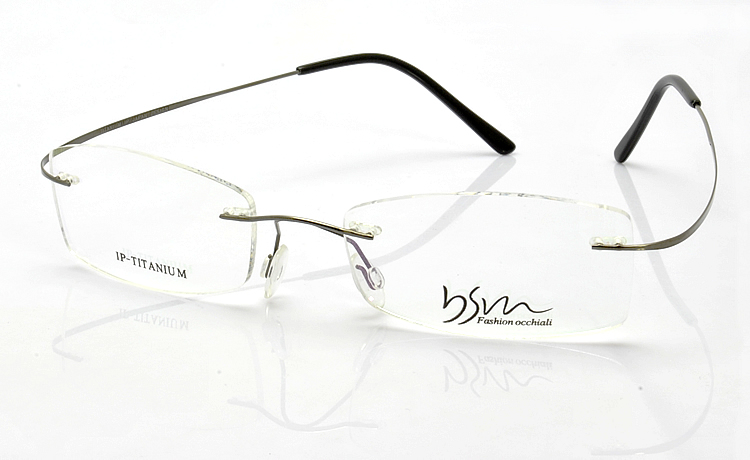 Parkson pasin IP plating of pure titanium metal rimless glasses frame light, sweat resistant and corrosion resistant