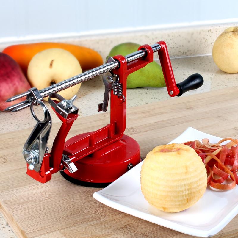 苹果削皮机手摇多功能三合一削皮去核切片家用快速加厚水果削皮器