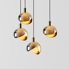 轻奢床头灯现代简约餐厅玄关创意北欧ins女儿房卧室玻璃球吊灯