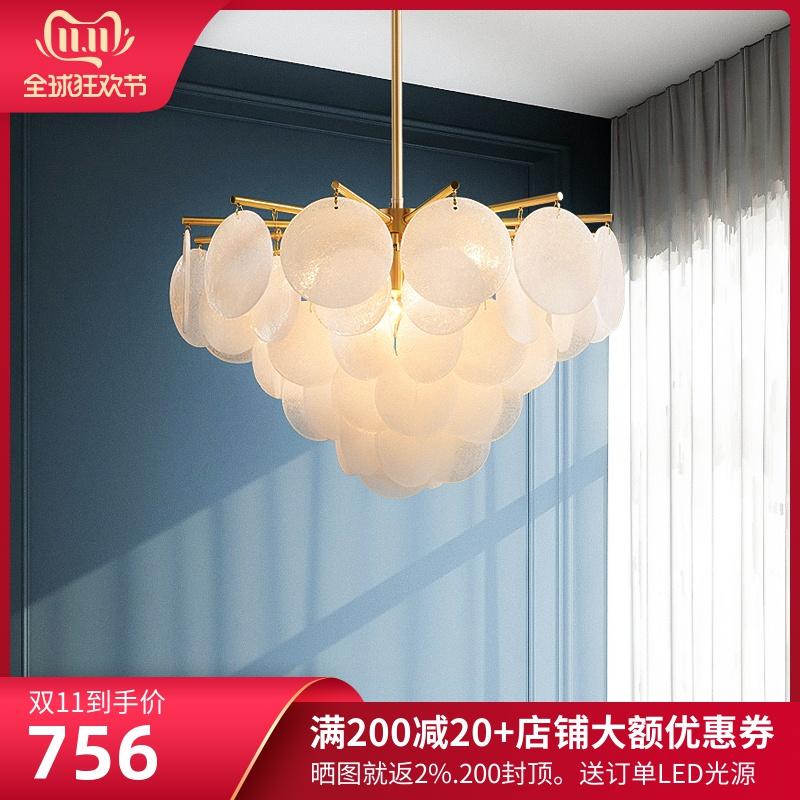 后现代卧室吊灯餐厅大气家用样板房创意设计师北欧全铜轻奢客厅灯