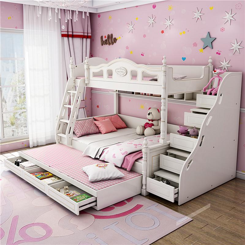 アメリカーノ高低ベッドの上下二段ベッドは大人の子供用ベッドです。