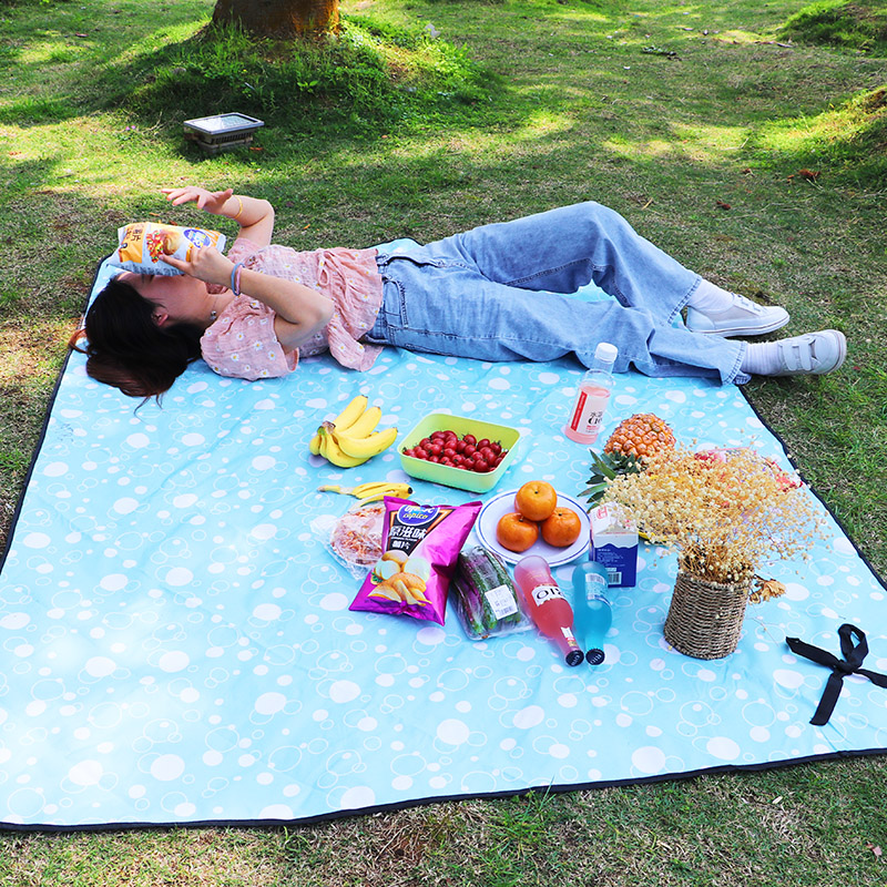 Outdoor portable waterproof HAPE damp proof mat thickened picnic mat ins super clean new lawn mat