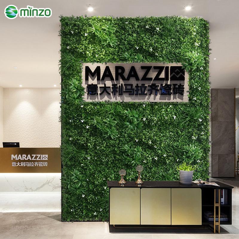 明筑环保加密 仿真植物墙室内前台背景墙 创意装饰绿植背景墙花墙