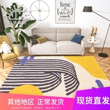 Carpet living room American light luxury Nordic ins carpet modern simple tea table carpet thick bedroom room full of