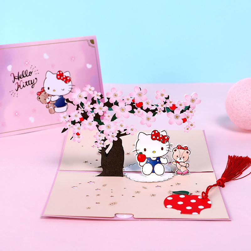 高端创意手工diy3D立体贺卡儿童生日祝福卡通小卡片感谢留言卡