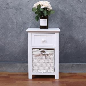 田园迷你窄柜白色床头柜28cm长宽30cm高45cm实木储物柜子卧室整装