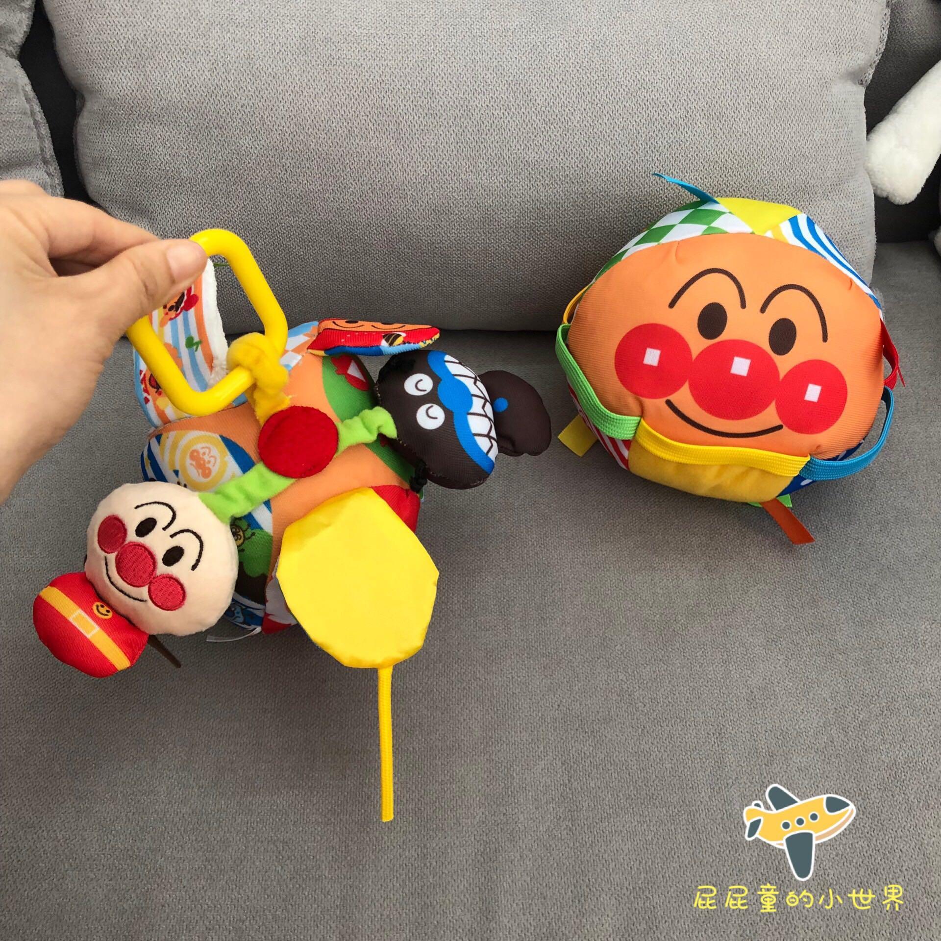 。面包超人布艺车床挂婴儿宝宝床头小推车挂件摇铃安抚玩具响铃bb