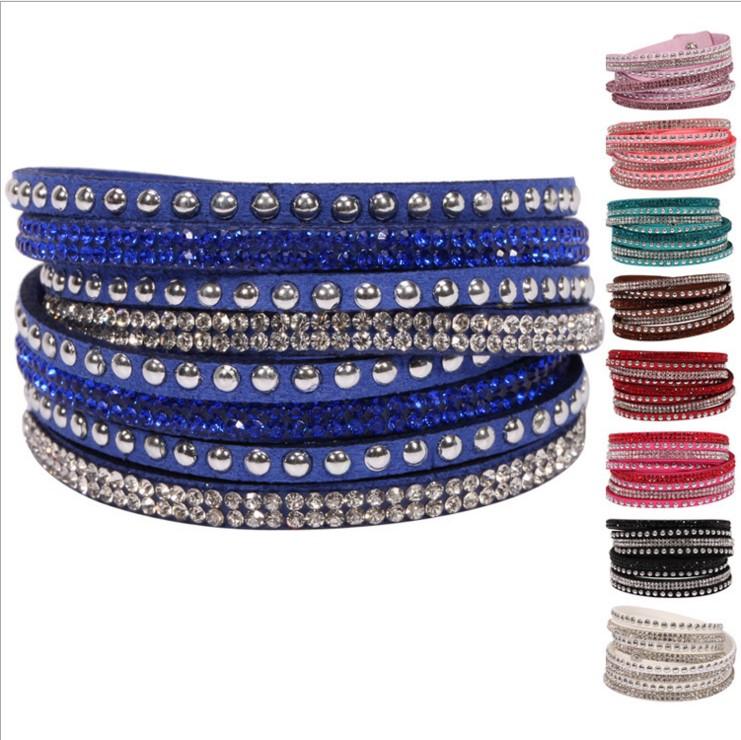 Lovers 10 Color Bracelet Korean fashion rivet Bracelet trend multi layer Bracelet hand jewelry