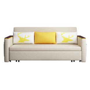 可摺疊沙發牀兩用小户型雙人1.8推拉儲物布藝1.2可變牀客廳1.5米