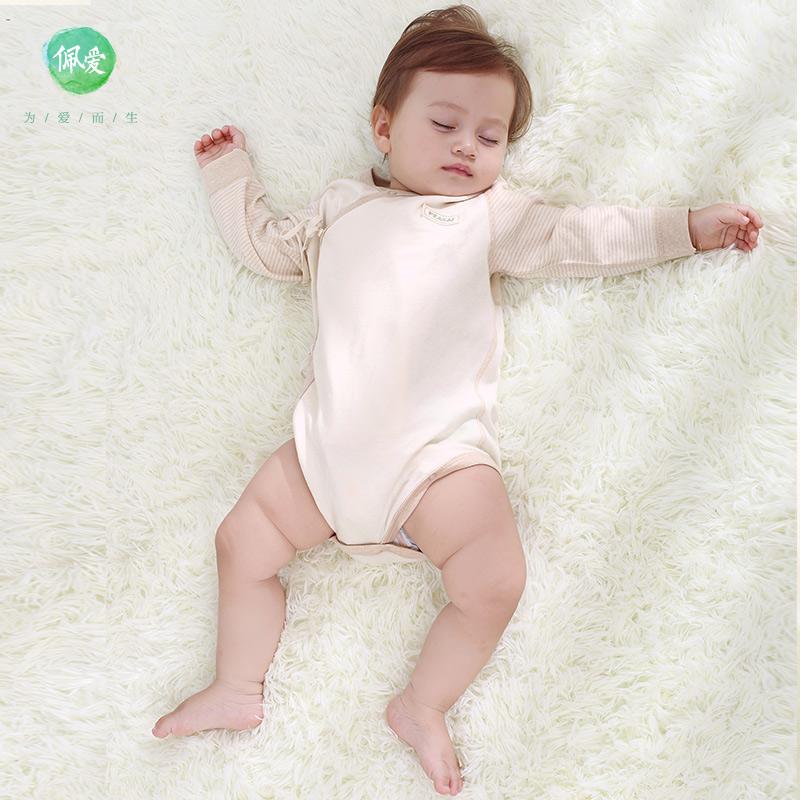 新生兒彩棉衣服三角哈衣包屁衣長袖嬰兒連體衣寶寶睡衣純棉包臀衣