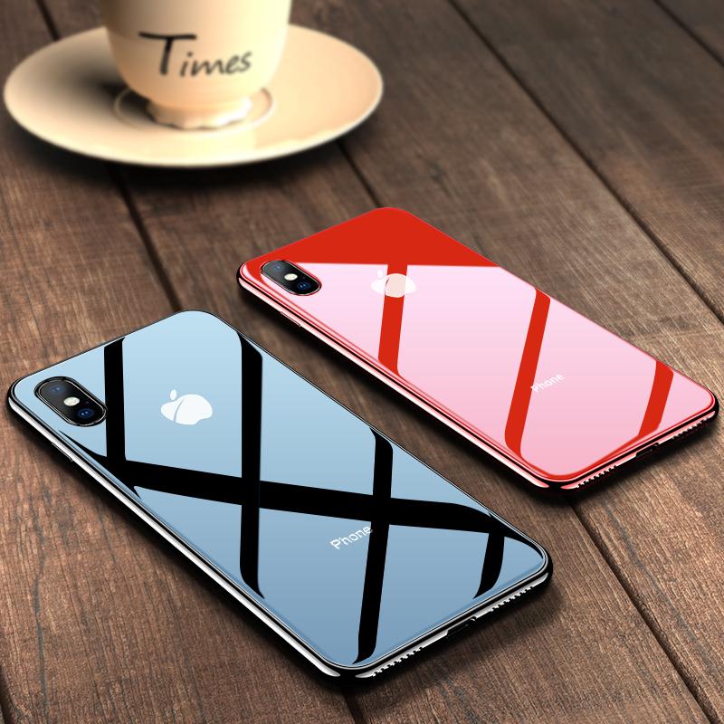 苹果x手机壳iphonex新款XsMax硅胶透明潮牌iphone x超薄Xs玻璃套ipone软8x全包防摔女男ipx保护iPhoneXs Max