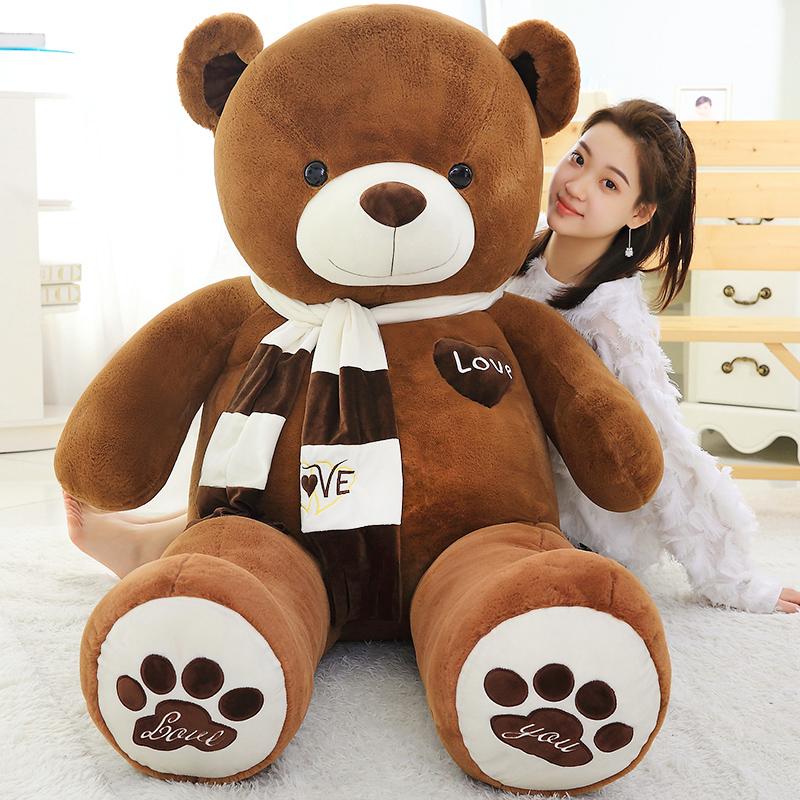 泰迪熊娃娃公仔毛绒玩具可爱熊猫玩偶睡觉抱抱熊女孩布娃娃礼物