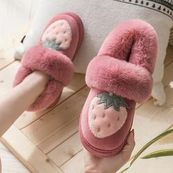 棉拖鞋女冬季保暖厚底毛绒拖情侣居家可爱室内全包跟家居月子棉鞋