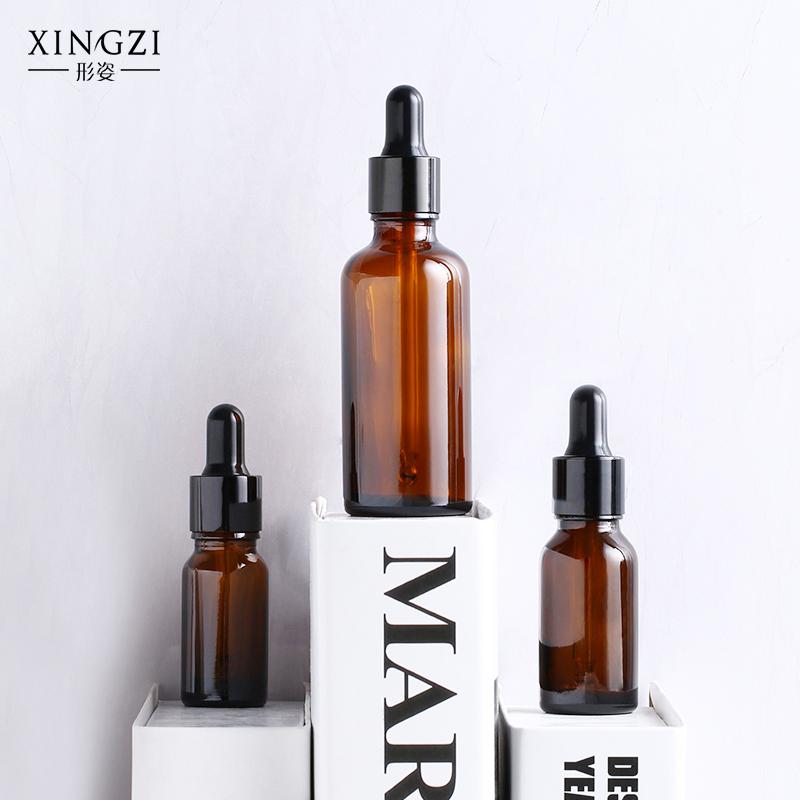 形姿棕色避光滴管分装瓶精华液精油瓶空瓶高档化妆品香水胶头调配