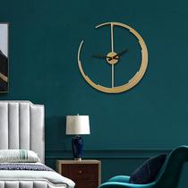 轻奢挂钟创意挂钟北欧轻奢钟表装饰钟个性创意挂墙挂钟客厅表挂墙