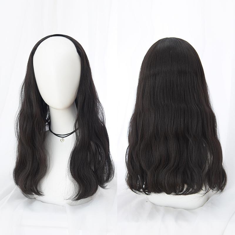伊奈诗 U型假发女长发中长卷发大波浪网红半头套式发片一片式无痕图片