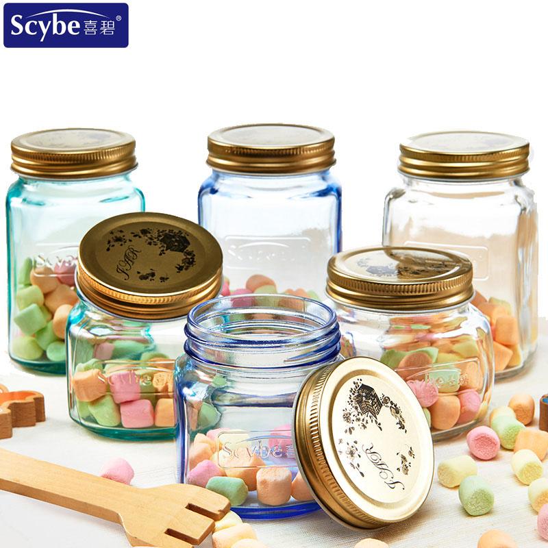 Scybe喜碧莫格玻璃密封罐加厚储物罐带盖果酱瓶腌菜罐柠檬蜂蜜瓶