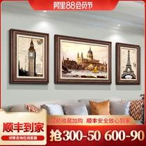 豎版金色龜背竹掛畫玄關畫DUDUO客廳裝飾畫都多|歐式輕奢手繪油畫
