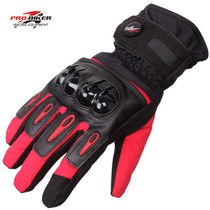 Motorcycle Riding Waterproof Gloves in winter warm can touch the screen with velvet thickened cold anti-fall locomotive Knight Equipment