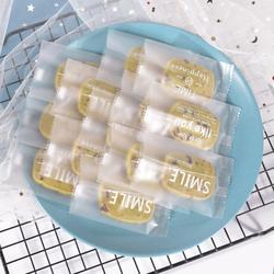 英文牛轧糖雪花酥饼干奶枣封口包装袋自封可爱曲奇机封袋糖果密封