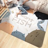 得喜满铺可爱卧室客厅家用床边毯评价如何