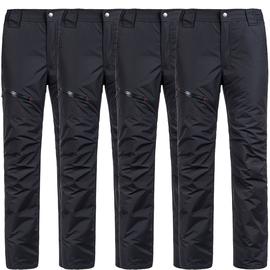 美国UAISI白鹅绒羽绒裤男外穿可脱卸高腰加厚中老年宽松大码棉裤