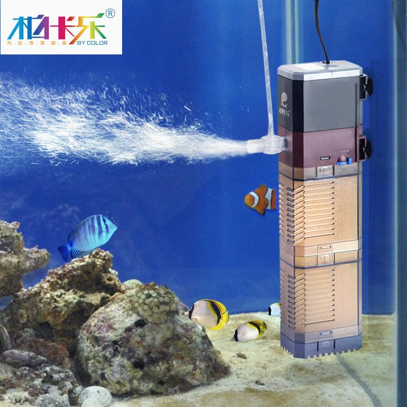 小魚缸過濾器內置潛水泵養魚水族箱三合一超靜音帶增衝氧過濾設備
