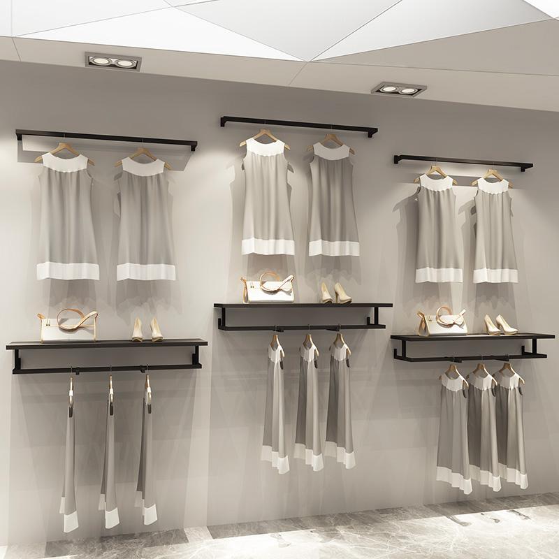 力洲服装店侧壁挂挂衣横杆正挂挂架满70.00元可用35元优惠券