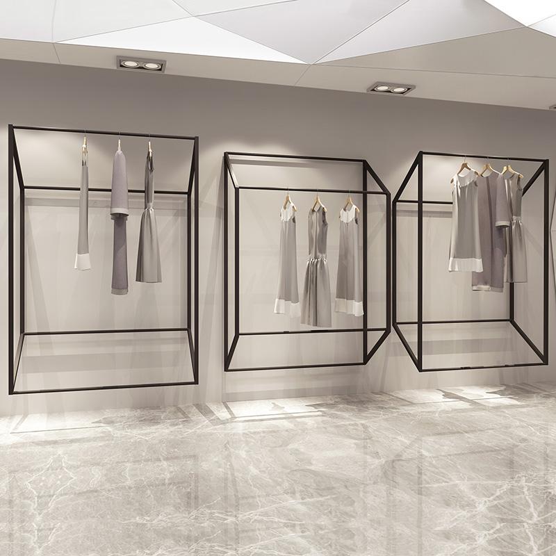 力洲 服装店展示架男女童装店货架上墙服装架墙上壁挂陈列架热销3件五折促销